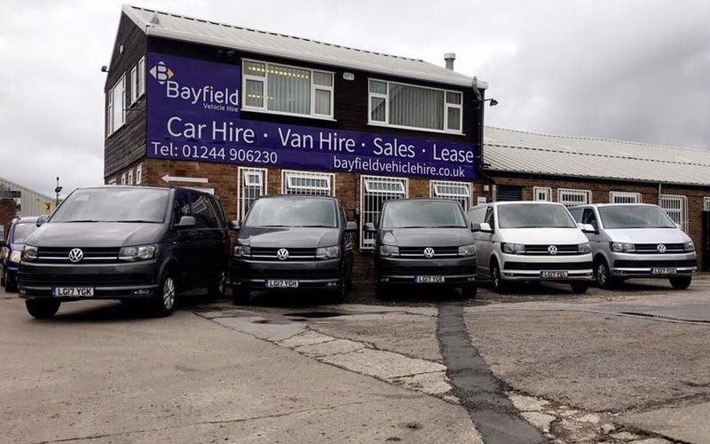 Bayfield Vehicle Hire Chester Forecourt